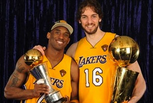 Pau Gasol Lakers Repeat NBA Champions 2010