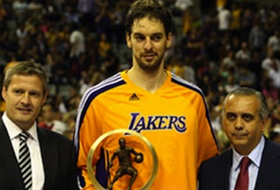 Pau Gasol Receives FIBA Player of the Year Award