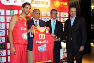 Spain 2011 Basketball Jersey Eurobasket Lithuania