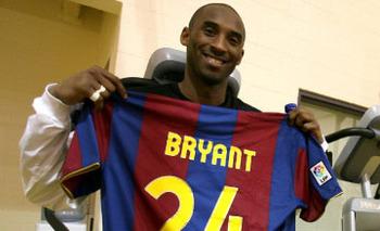 Kobe Bryant With FC Barcelona