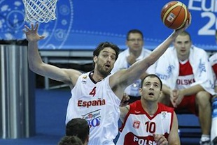 Spain Fights Big for First Win Over Poland 83-78