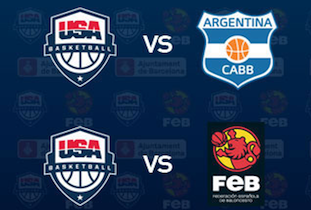 USA vs Spain vs Argentina Tournament, Barcelona July 2012