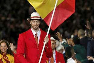 Pau Gasol Opening Ceremony Flag Bearer