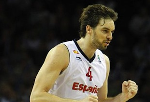 Pau Gasol Flag Bearer For Spain