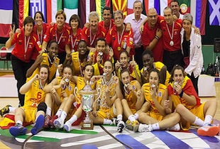 Spain Women U16 Wins Euro Championship Over Czech Republic 54-49