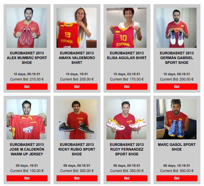 Spain National Team Jersey Auction