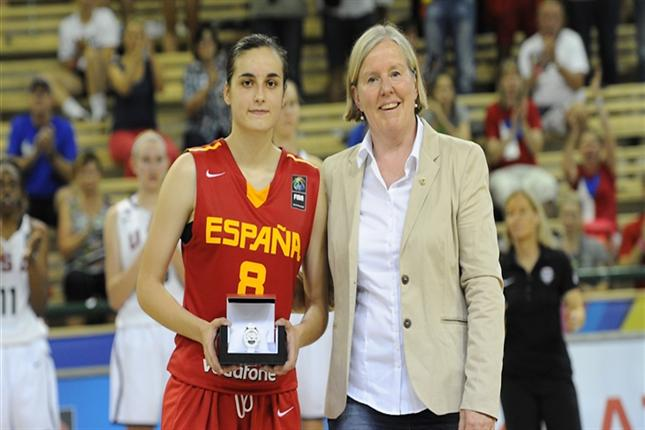 Angela Salvadores Wins 2014 FIBA Young Women's Player of the Year