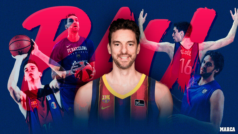 Pau Gasol returns to Barça Basket: the presentation, live