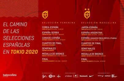 Spain already knows its schedules in Tokyo 2020