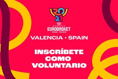 Registration opens to be a volunteer for the Eurobasket 2021 in Valencia