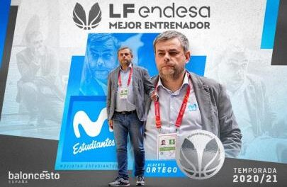 Alberto Ortego, elected best coach of the 2020/21 season