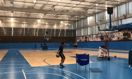 Álex Abrines warms up for El Clásico with his furthest basket …
