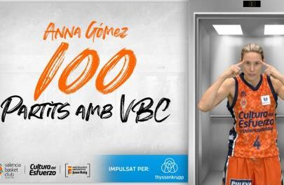 Anna Gómez celebrates 100 games with Valencia Basket