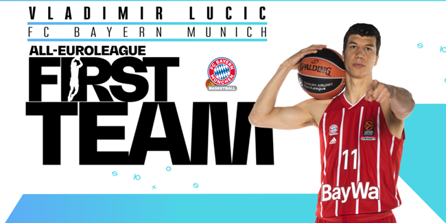 Bayern's Lucic voted to All-EuroLeague First Team!