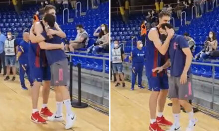The image of the good vibes of Spanish basketball: Llull came out …