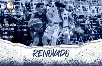 The point guard Alonso Meana will continue in the Liberbank Oviedo