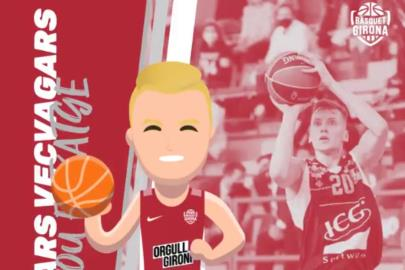 Kaspars Vecvagars, first signing of Bàsquet Girona for the …
