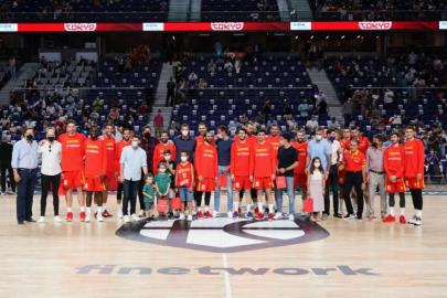 Tribute of the ABP at the WiZink Center match
