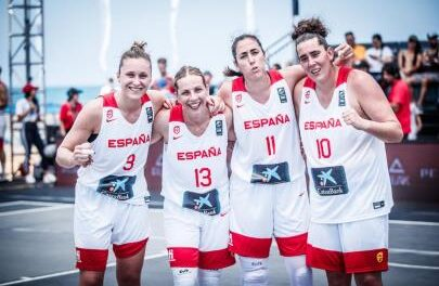 The 3×3 Women's National Team, ready for the Women's Series …