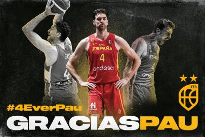 Pau Gasol: 149 official matches, 2,544 points and 14 medals with the Spain jersey